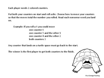 The Turtle Path! An r-controlled reading game