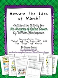 """Beware the Ides of March"" Julius Caesar Activity - Shakespeare"