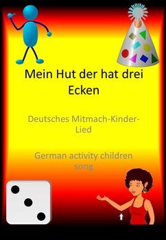 """Bewegungslied """"Mein Hut der hat drei Ecken"""" / German children activity song"""