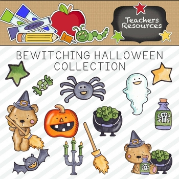 Bewitching Halloween Clipart Collection || Commercial Use Allowed