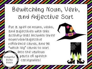 Bewitching Noun, Verb, and Adjective Sort