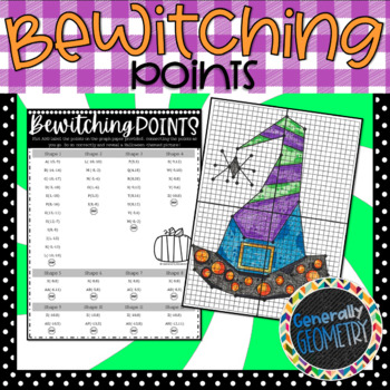Bewitching Points-Halloween Themed Coordinate Graphing Activity