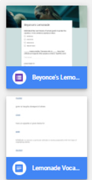 Beyonce's Lemonade Vocabulary