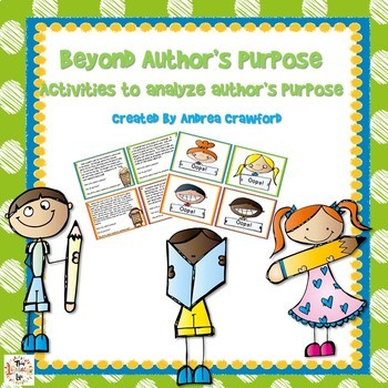 Author's Purpose Task Cards and Analyzing Activity