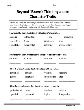 """Beyond """"Brave"""": Thinking about Character Traits"""