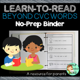 Beyond CVC Words Practice No-Prep Binder
