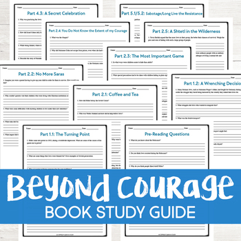 Beyond Courage by Doreen Rappaport Book Study