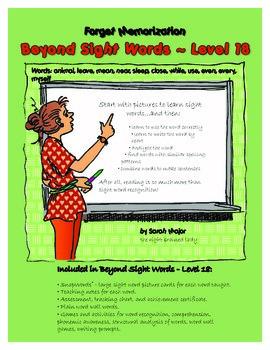 Beyond Sight Words, Level 18