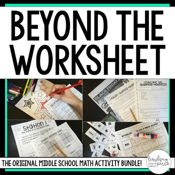 Middle School Math Activities Bundle by Lindsay Perro | TpT