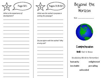 Beyond the Horizon Trifold - Treasures 5th Grade Unit 3 Week 3 (2009)