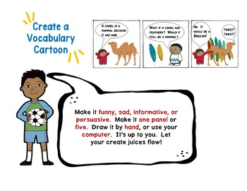 Beyond the Sentence: Vocabulary Choice Board and Presentation