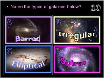 Beyond the Solar System, Galaxies, Black Holes, Constellations, Quiz