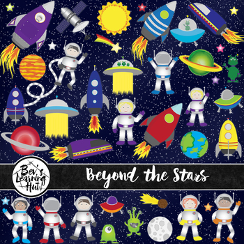 Beyond the Stars Space Clip Art Set