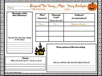 Beyond the Story Map:  Story Analysis:  Halloween Edition