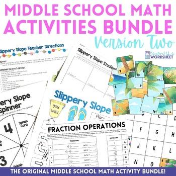 Middle School Math Activities Bundle - Volume 2
