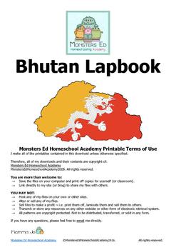 Bhutan Lapbook with Answer Key