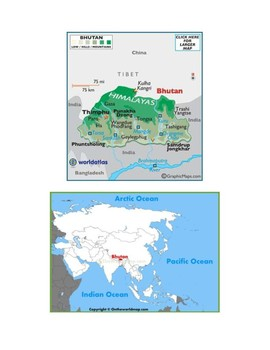 Bhutan Map Scavenger Hunt