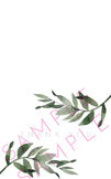 Bi-Fold Landscape Style General Spring Rosemary Frond Wate