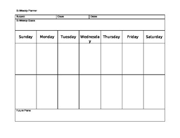 Bi-Weekly Planner