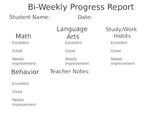 Bi-Weekly Progress Report