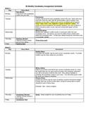 Bi-Weekly Vocab Schedule