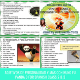 Kung Fu Panda 3 (Movie) Spanish Movie Guide and Questions for Spanish Class