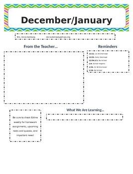 Bi-monthly newsletter templates