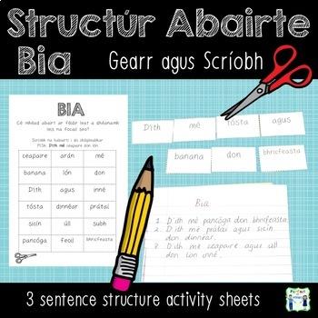 Bia - Sentence Structure - Gearr agus Scríobh