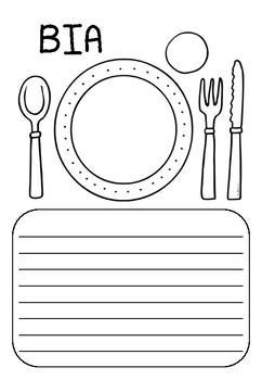 Bia (food) worksheet - Gaeilge / Irish
