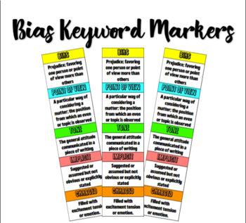 Bias Keywords Table Markers
