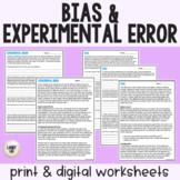 Bias & Experimental Error - Guided Reading - PDF & Digital