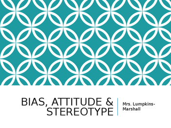 Bias and Stereotypes