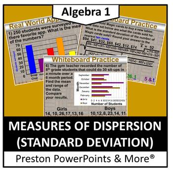 (Alg 1) Measures of Dispersion (Standard Deviation) in a PowerPoint Presentation
