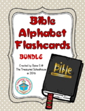 Bible ABC Alphabet Flashcards BUNDLE