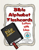 Bible ABC Alphabet Flashcards for Letters with Lines
