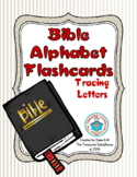 Bible ABC Alphabet Flashcards with Tracing Letters