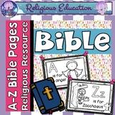 Bible ABC Alphabet Letter Poster Pages