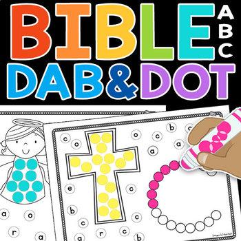 Bible ABC Dab & Dot Worksheets (lowercase)