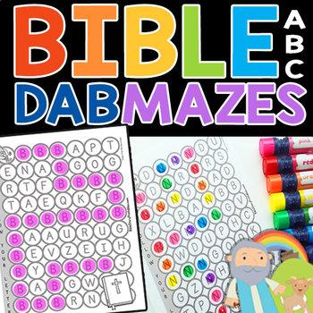 Bible ABC Dab & Dot Mazes (UPPERCASE)