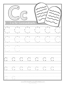 Bible ABC Handwriting Pages