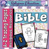 Bible ABC Alphabet Letter Handwriting Tracing Pages