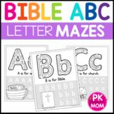 Bible ABC Mazes: Fine Motor Alphabet A-Z Worksheets