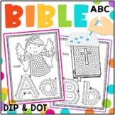 Bible ABC Q-Tip Worksheets: Fine Motor Alphabet Formation