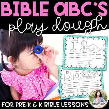 Bible ABC's Play Dough Mats for Pre-K and K