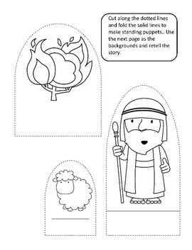 Bible Activities- Moses and the Burning Bush by Teaching ...