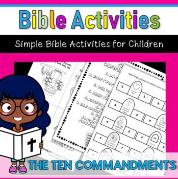 Bible Activities- The Ten Commandments