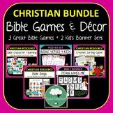 BIBLE GAMES and Decor BUNDLE Bible Bingo, Character Matchi