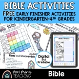 Bible Activity Worksheets, Early Finishers, Freebie