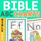 Bible Alphabet Charts & Flashcards