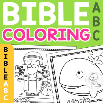 bible coloring pages bible abc'spreschool mom  tpt